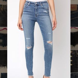 AGOLDE Sophie High Waisted Skinny Jeans